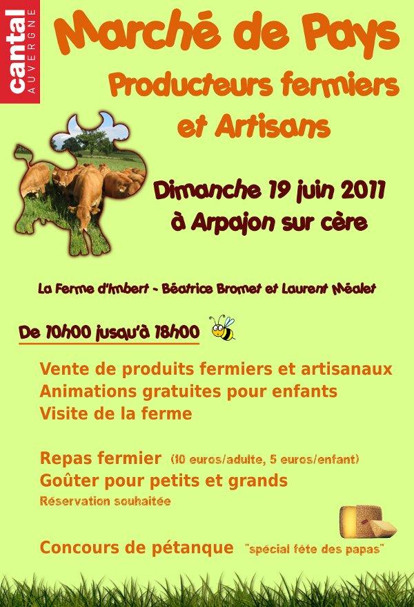 Marché de Pays du Cantal le 19 juin 2011